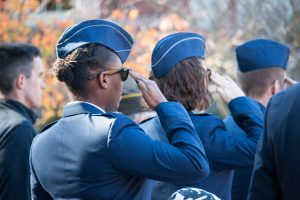 UNC's Air Force ROTC Detachment 590 was named best small detachment in the Southeast. (photo by Kristen Chavez)