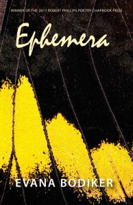 Cover of Evana Bodiker's chapbook Ephemera.